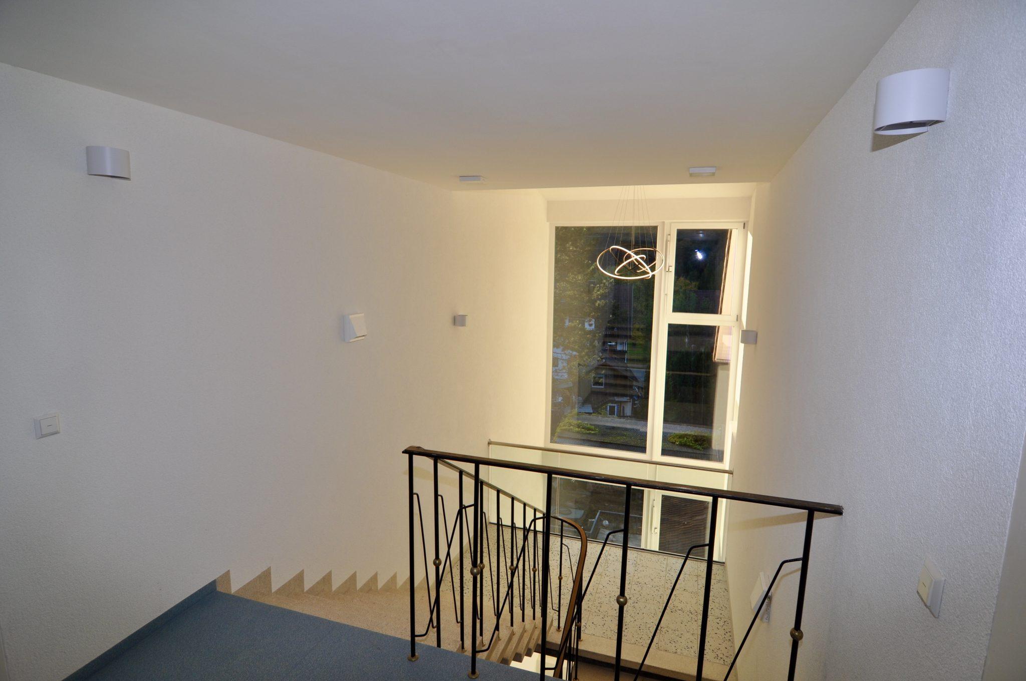 Beleuchtestes Treppenhaus Albtal-Residenz